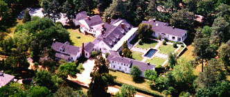 Aerial view of the cottage